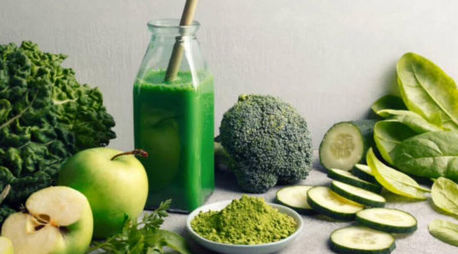 Green Juice Extracted from Green Vegetables