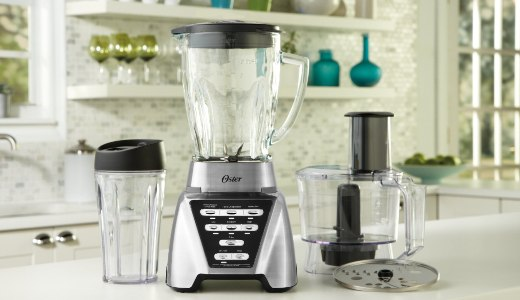 Oster blender and food processor combo with attachments