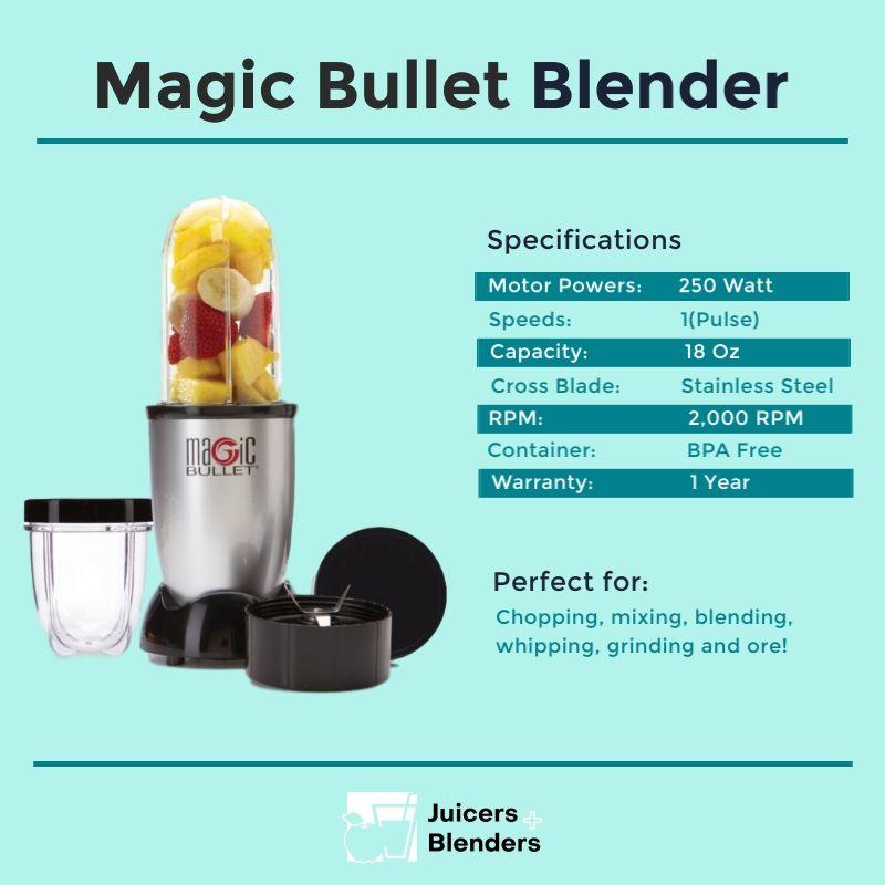 Magic Bullet Blender Specs